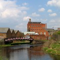 Mill and factory buildings at Frog Island, Frog Island, Leicester, 17 April 2004