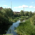 River Soar with factories, Frog Island, Leicester, 27 August 2006