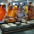 Volunteers making chapatis, Vaisakhi Parade 2007, Guru Tegh Bahadur Gurdwara, East Park Road, Leicester, 22 April 2007